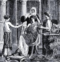 Roman women hair and make-up